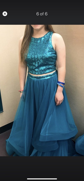 Queenly size 6 City Triangles Blue Ball gown evening gown/formal dress