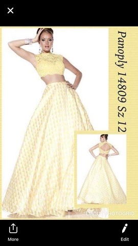 Queenly size 12 Panoply Yellow Ball gown evening gown/formal dress