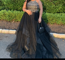 Black Size 10 Ball gown on Queenly