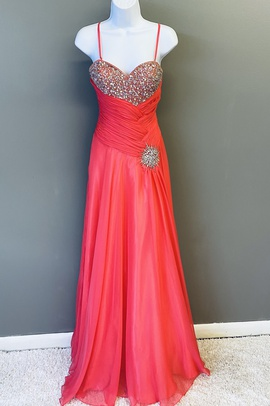 Queenly size 0 Mac Duggal Orange Ball gown evening gown/formal dress
