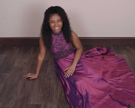 Sherri Hill Purple Size 4 Ball gown on Queenly