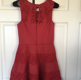 Trixxi Red Size 6 Medium Height Cocktail Dress on Queenly