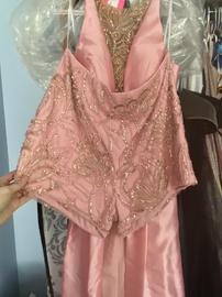 Rachel Allan Pink Size 12 Jumpsuit Plus Size Romper/Jumpsuit Dress on Queenly