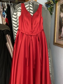 Queenly size 8  Red A-line evening gown/formal dress