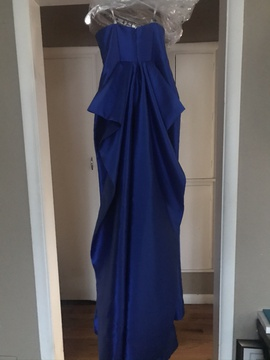 Blush Blue Size 4 Sweetheart Strapless Straight Dress on Queenly