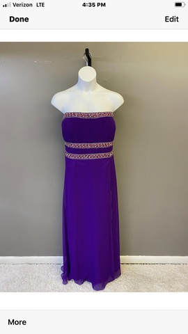 Queenly size 24 Party Time Formals Purple A-line evening gown/formal dress
