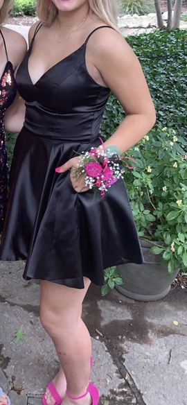 Sherri Hill Black Size 6 Homecoming A-line Dress on Queenly