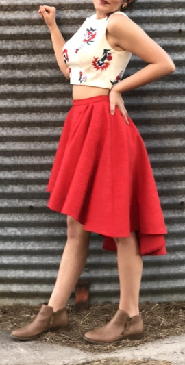 Lore Red Size 4 High Low Train Dress on Queenly