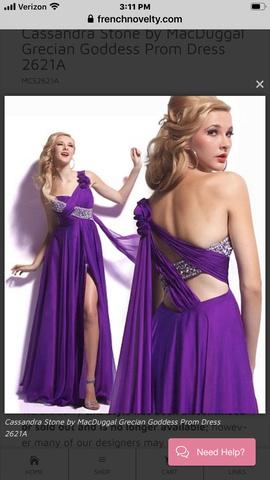 Mac Duggal Purple Size 4 Train A-line Dress on Queenly