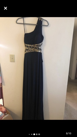 Queenly size 4 Betsy & Adam Blue Straight evening gown/formal dress