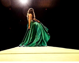 Rachel Allan Green Size 6 Medium Height Ball gown on Queenly