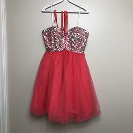 Queenly size 4 narianna Pink Cocktail evening gown/formal dress