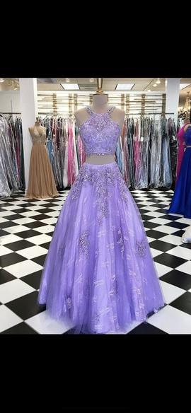 Queenly size 0 Rachel Allan Purple Ball gown evening gown/formal dress