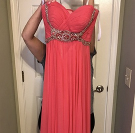 Queenly size 0 Sherri Hill Pink Straight evening gown/formal dress