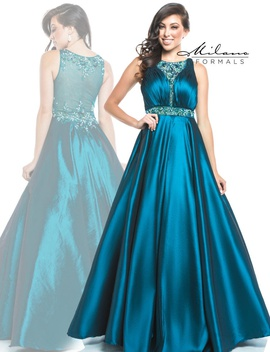 Queenly size 0 Milano Formals Green Ball gown evening gown/formal dress