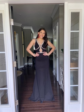 Sherri Hill Black Size 2 Prom Plunge Backless Cut Out A-line Dress on Queenly