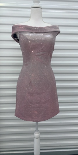 Sherri Hill Purple Size 4 Interview Shiny Cocktail Dress on Queenly