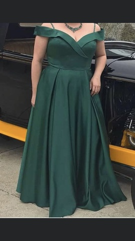 Queenly size 14 glow Green Ball gown evening gown/formal dress