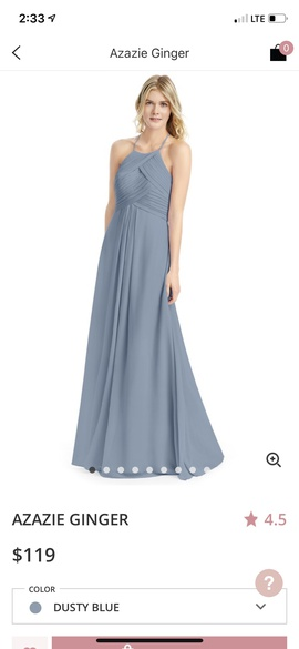 Queenly size 6  Blue A-line evening gown/formal dress