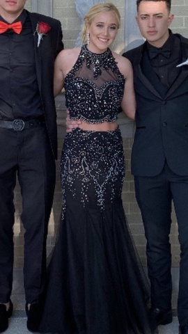 Blush Black Size 4 Prom Mermaid Dress on Queenly