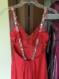 La Femme Red Size 2 Train Dress on Queenly
