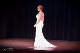 Jovani White Size 6 Medium Height Side slit Dress on Queenly