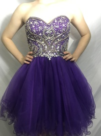 Queenly size 2 Juliet Purple Cocktail evening gown/formal dress