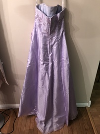 Alfred Angela Light Purple Size 10 Strapless Ball gown on Queenly