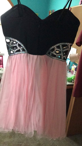 Blondie Nites Pink Size 4 Homecoming Sweetheart Strapless Cocktail Dress on Queenly