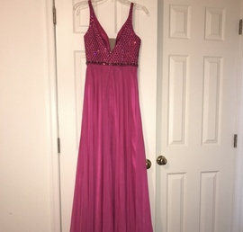Sherri Hill Pink Size 2 Sequin A-line Dress on Queenly