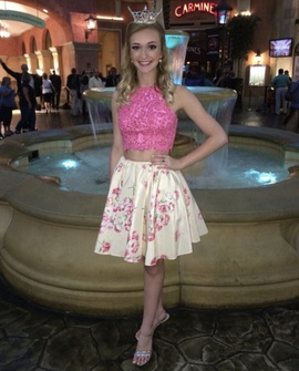 Queenly size 2 Sherri Hill Pink Cocktail evening gown/formal dress