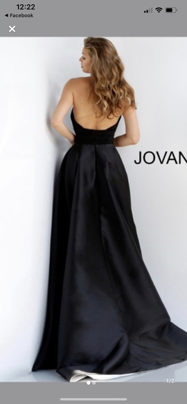 Jovani Black Size 12 Fun Fashion Overskirt Plus Size Romper/Jumpsuit Dress on Queenly