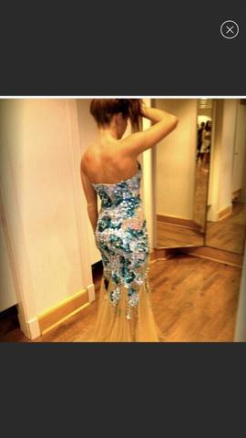 Jovani Blue Size 0 Mermaid Dress on Queenly