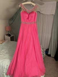 Queenly size 8 Sherri Hill Pink Straight evening gown/formal dress