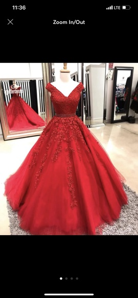 Sherri Hill Red Size 8 Ball gown on Queenly