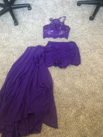 Queenly size 6  Purple Cocktail evening gown/formal dress