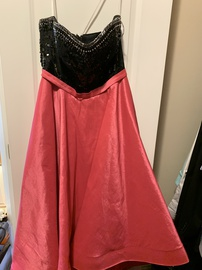 Queenly size 14 Mac Duggal Pink A-line evening gown/formal dress