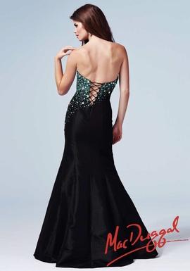 Mac Duggal Black Size 4 Sweetheart Macduggal Pattern Mermaid Dress on Queenly