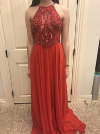 Queenly size 0 Jovani Red Straight evening gown/formal dress
