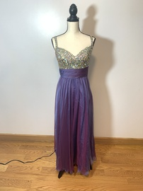 Queenly size 8 Colors Purple A-line evening gown/formal dress