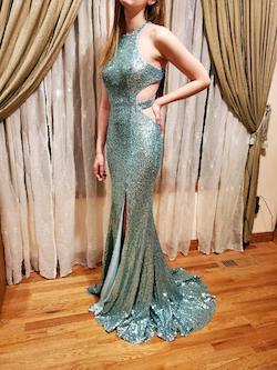 Alyce Paris Blue Size 2 Alyce Side slit Dress on Queenly
