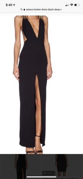 Queenly size 4 Solace London Black Straight evening gown/formal dress