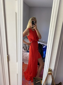 BCBG Red Size 6 Straight Dress on Queenly