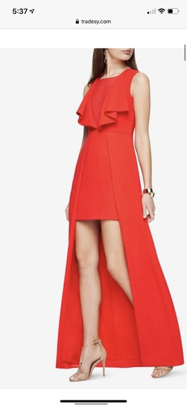 Queenly size 6 BCBG Red Straight evening gown/formal dress