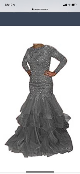 Silver Size 10 Mermaid Dress on Queenly