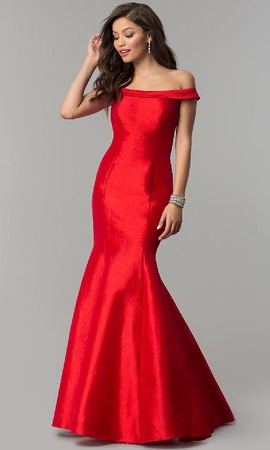 Jovani Red Size 6 Tulle Medium Height Mermaid Dress on Queenly