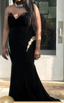 Black Size 14 Mermaid Dress on Queenly