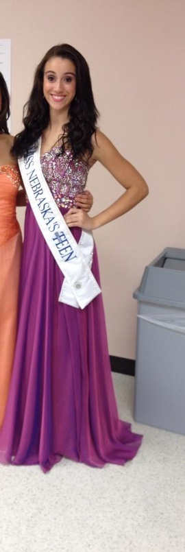 Queenly size 2 Tony Bowls Purple A-line evening gown/formal dress