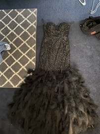 Jovani Black Size 6 Jewelled Strapless Sequin Mermaid Dress on Queenly