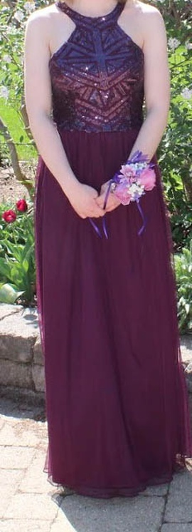 Queenly size 8  Purple Straight evening gown/formal dress